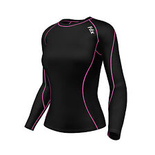 FDX Women's Compression Top Long Sleeve Base Layer  Running Gym Training Top