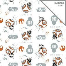 Last Jedi Star Wars Resistance BB8 By the yard x 42 Cotton Flannel