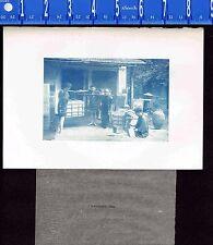Tea Merchants Weighing Tea Bales -1902 Japan Lithograph NICE