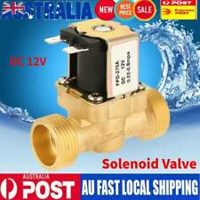 1pc Dc12v G3/4 Normal Closed Brass Electric Solenoid Valve for Water 0.8mpa AU