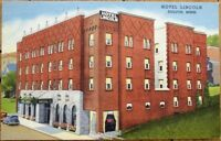 Duluth, MN 1940s Linen Postcard: Hotel Lincoln - Minnesota Minn