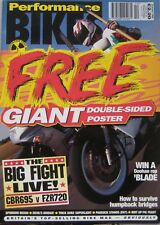 Performance Bikes magazine October 1995 featuring Suzuki, Ducati, Yamaha