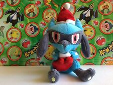 Pokemon Plush Santa Hat Riolu 2007 Christmas Xmas Vintage Holiday Doll figure