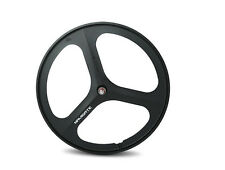 700c Tri Spoke Fixie Fixed Gear Single Speed Bike Front  Mag Wheel Rim ( Black )