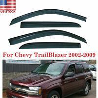 Sun Wind Vent Rain Shade Window Visor Fit Chevy Trailblazer 2002-2007 2008 2009