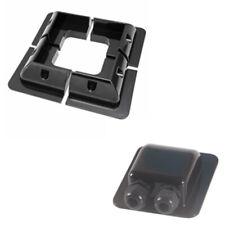 Black Solar PV Panel ABS Plastic Corner Mounts Set Waterproof Double Entry Gland