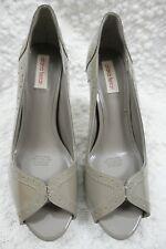 DIANA FERRARI sable brown 100% patent leather peep toe high heels size 9.5 BNIB