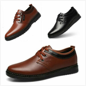 Men New Leather Shoes Oxfords Dress Business Casual Formal Fashion Leisure Shoes
