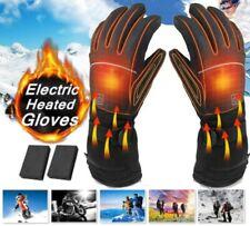 Motorbike Motorcycle Heated Gloves Winter Warm Battery Electric Waterproof US