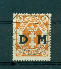 FREE CITY OF DANZIG - GERMANY 1921 10 Pf Official Stamp
