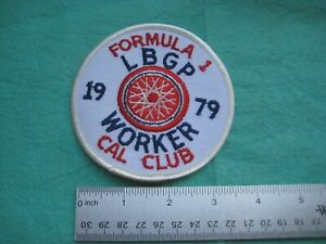 Vintage SCCA Sports Car Club Of America Long Beach CA Worker 1979 Patch