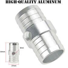 "Aluminum 1-1/4"" Hose w/ 1/8"" NPT Steam Port Adapter Top Radiator LS Swap Coolant"