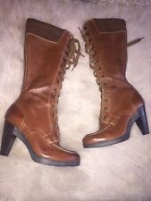 Cole Haan Air NWOB Lace Up Boots 6.5 $525 Brown