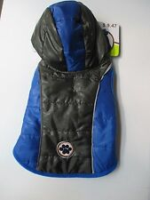 Blue And Black with a Hood Fetchwear Dog  Jacket Fall, Winter Free Shipping