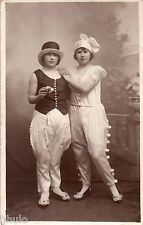 BJ196 Carte Photo vintage card RPPC Enfant fille costume déguisement carnaval