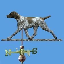 German Shorthair Pointer Hand Carved Hand Painted Basswood Weathervane