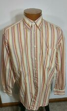 St. Croix Men's Long Sleeve Button Front Shirt Made In Italy Colorful Stripe L