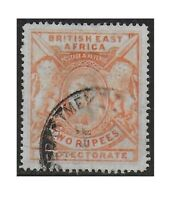 BEA British East Africa 1898 QV 2r Orange Scott #103 F/VF Used CV $110.00