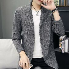 Mens Casual Sweater Cardigan Sweater Duffle Knitting Shirts Knitwear Trench Coat