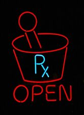 """New Pharmacy Rx Clinic Open Beer Bar Neon Light Sign 24""""x20"""""""