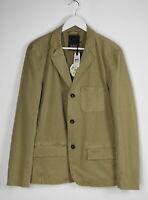 DENHAM TYPE D THW Men's LARGE 3-Button Casual Sand Blazer Jacket 8491*mm