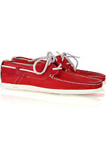 SOLD OUT NDC N.D.C. Alithia Red Suede Boat Shoes 37 - La Garconne $280