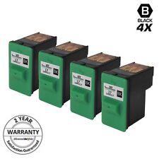 4pk Black Ink Cartridge #17 for Lexmark 17 10N0217 X1185 X1290 X1150 Printer