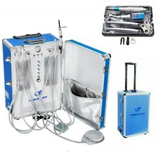 Greeloy Dental Portable Unit With Air Compressor 206s Handpiece Kit 4 Hole Us