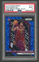2018-19 Panini Blue Fast Break Prizm #170 Collin Sexton RC Rookie 80/175 PSA 9