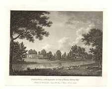 the seats of nobility & gentry 1787 -1815 engraving - chalfont house. bucks !