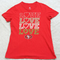 XL 16 Short Sleeve NFL San Francisco 49ers Love Crewneck Tee T-Shirt Top Woman's