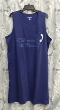 CALL ME 100% COTTON NIGHT SLEEP SHIRT NIGHTIE NIGHTGOWN PLUS~22/24~1X~2X~NEW-