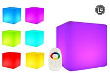 LED Design Cube 50cm / LED-Sitzwürfel, In & Outdoor, RF Fernbedienung o. per APP