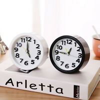 Circular Small Bed Compact Travel Quartz Beep Alarm Clock For Home Livingroom