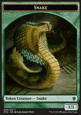 MRM FRENCH 4x Token - Jeton Snake - Serpent 1/1 MTG magic KOT