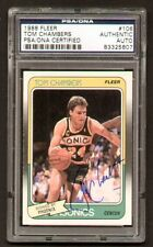 Tom Chambers 1988 Fleer Basketball #106 signed autograph auto PSA/DNA Slabbed