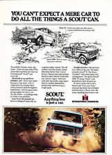 1979 International Harvester Scout - Can - Classic Vintage Advertisement Ad D44