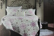 CYNTHIA ROWLEY FLORAL FULL/QUEEN QUILT SET+PILLOW-4PC