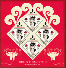 Turks & Caicos Island 2012 MNH Diamond Jubilee 4v Sheet Queen Elizabeth II