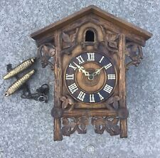 ANTIQUE BLACK FOREST CUCKOO WALL CLOCK FOR REPAIR.c1900
