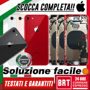 SCOCCA POSTERIORE+FLEX+FRAME COMPLETA per APPLE IPHONE 8 BACK COVER HOUSING TOP