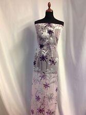"NEW Designer Silk Satin Chiffon Burnout Print Fabric 45""115cm Dress Cloth Craft"