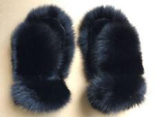Black Fox Fur Mittens with Sheared Beaver. Saga Furs