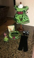 NEW American Girl Bitty Baby Green Red Poinsettia Dress Complete Set 2001 Bell