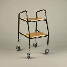 Days Adjustable Height Teak Shelf Trolley - 09-135-6526