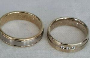 2x Ring Verlobungsringe - Hochzeitsringe - Freundschaftsringe