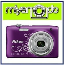 Nikon CoolPix A100 Digital Camera (Decorative Purple) + 8GB + Case (M'sia)