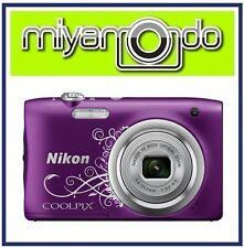 Nikon CoolPix A100 Digital Camera (Decorative Purple) + 16GB + Case (M'sia)