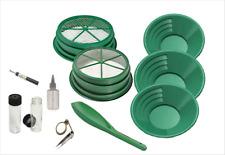 Goldwaschset SONA 'Deluxe' 11-teilig, grün 3x Goldwaschpfanne 2x Sieb Magnet
