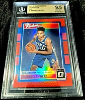 MARKELLE FULTZ 17-18 OPTIC THE ROOKIES RED HOLO PRIZM ROOKIE RC 51/99 BGS 9.5